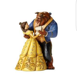 Enesco Disney Traditions by Jim Shore 25th Anniversary Belle and Beast Ballroom Stone Resin Figurine, 9""