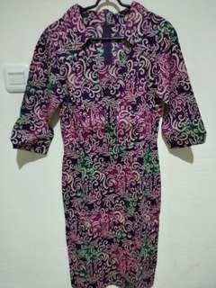 Violet Dress Batik