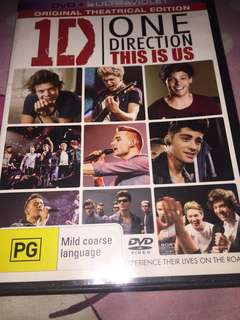 One Direction This is Us DVD (from Aus)