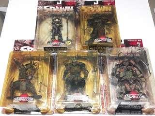 Spawn Series 19 (Samurai Wars) set of five - McFarlane