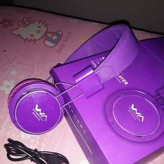 headphones purple