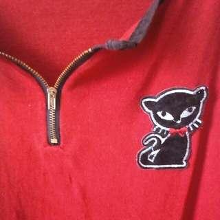 Cat Red Short Sleeve Shirt