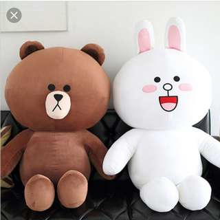 *Clearance* Line Friends Brown Coney Plush Toy