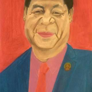 Portrait Of China Leader Xi Ching Ping
