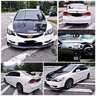 SAMBUNG BAYAR/CONTINUE LOAN  HONDA CIVIC FD 1.8 AUTO YEAR 2011 MONTHLY RM 980 BALANCE 6 YEARS ROADTAX VALID BODYKIT  DP KLIK wasap.my/60133524312/fd1.8