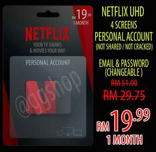 NetFlix 4k UHD Personal Account 100% Authentic & Legal ( Not Cracked / Not Shared )