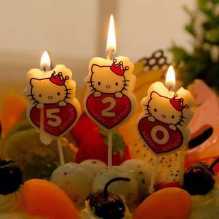 Hello Kitty Number Candle 吉蒂數字蠟燭