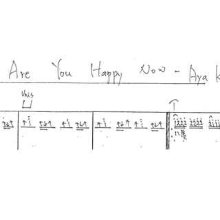 Are You Happy Now-演唱Aya kamiki-樂譜簡譜-吉他專用-其他樂器可以參考