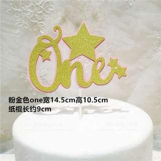 ONE Birthday cake decorations