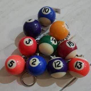 Pool/Billiard Ball Keychain