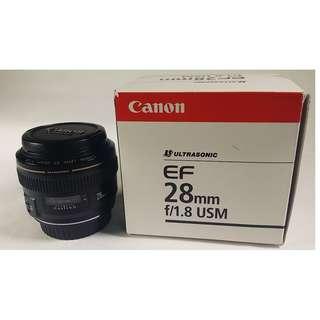 Canon EF 28mm f/1.8 USM  公 (CL066)