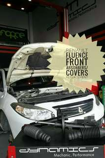 Renault Fluence : Original Front Absorbers Replacement.