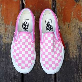 Vans Slip On 粉白色