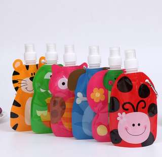 Foldable and Portable Water Bottle for Kids