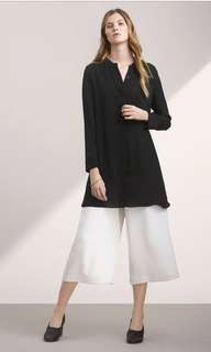 Aritzia Wilfred silk bossut long sleeve dress with buttons all the way down