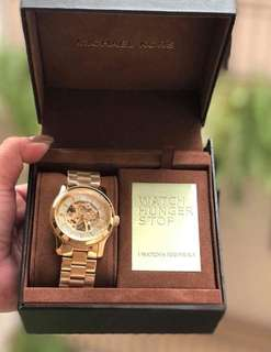SALE ALERT!!! BRANDNEW MICHAEL KORS SKELETON SWAROVSKI WATCH