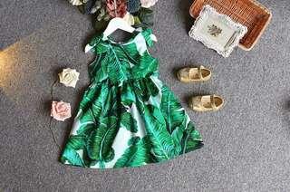 Girls printed princess dress