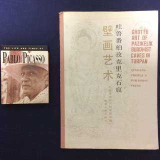 Art Books - The Life and Times of Pablo Picasso and Art of Buddhist Caves