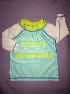 Lot of 2 baby's swimwear / rashguards 0-3mos