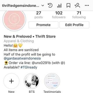 @thriftedgemsindonesia Follow our new account on ig