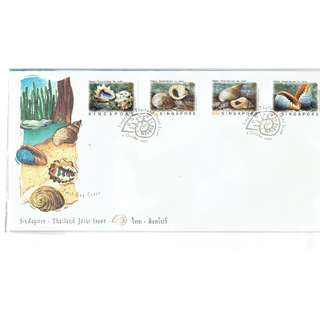 FDC #214  Singapore - Thailand Joint Issue --- Snails