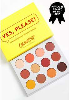 Yes please colourpop palette
