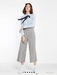 Pomelo Ida Plaid Cropped Pants