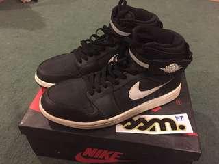Nike Air Jordan 1 Hi Strap Black US9.5/UK8.5