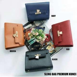 Sling premium kunci ( navy dan hitam sold)