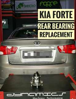 Kia Forte : Rear Wheel Bearing with ABS_Sensor Replacement