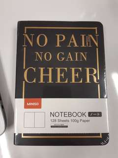 Buku Notes Notebook No Pain No Gain