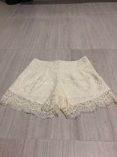 Off White Lace Skirt