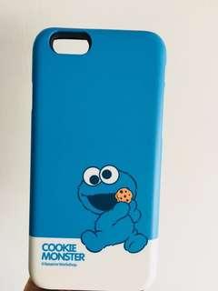 iphone case-芝麻街 cookie monster 包邊