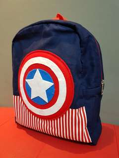 Captain America Bag #Kidsbag#schoolbag#captainamerica #handmade #unique
