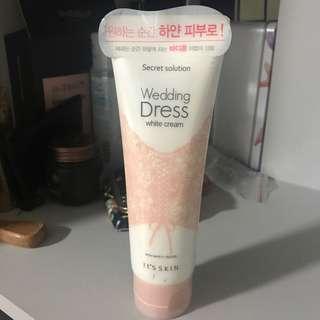 Its Skin Wedding Dress white cream