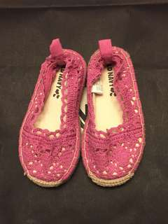 Old Navy 女童編織鞋(桃紅)