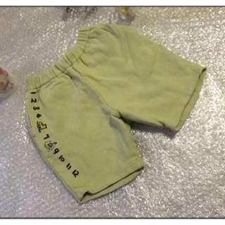 BeBe  兒童 女童 小孩 男童 短褲 尺寸:110 約中班~小一 只售99元
