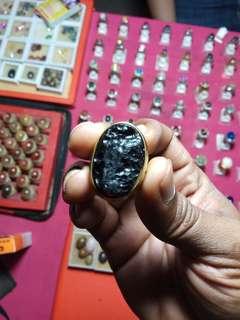 batu meteor berhasiat ring size 9