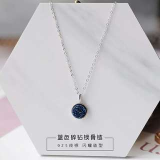 Blue Crystal Necklace S925