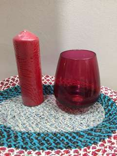 Candle and Holder (set)