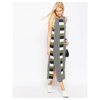 ASOS City Maxi Stripe Column Dress
