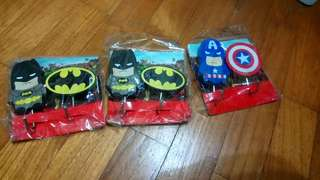 Batman and Captain America Wall Hooks