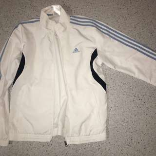 Adidas white&blue sports jacket