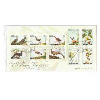 FDC #270  The William Farquhar Collection  -  Birds