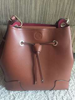 Authentic brown tote bag Hush Puppies