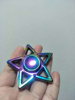 Star Rainbow Fidget Spinner (Metal)