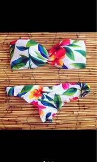 Two Piece Floral Swimsuit Bikini