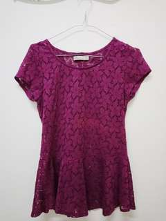 NyLa Purple Lace Blouse