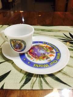 Antique cup & saucer fr National in 1980s