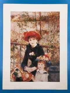 Print 'Sur La Terrasse' by Renoir